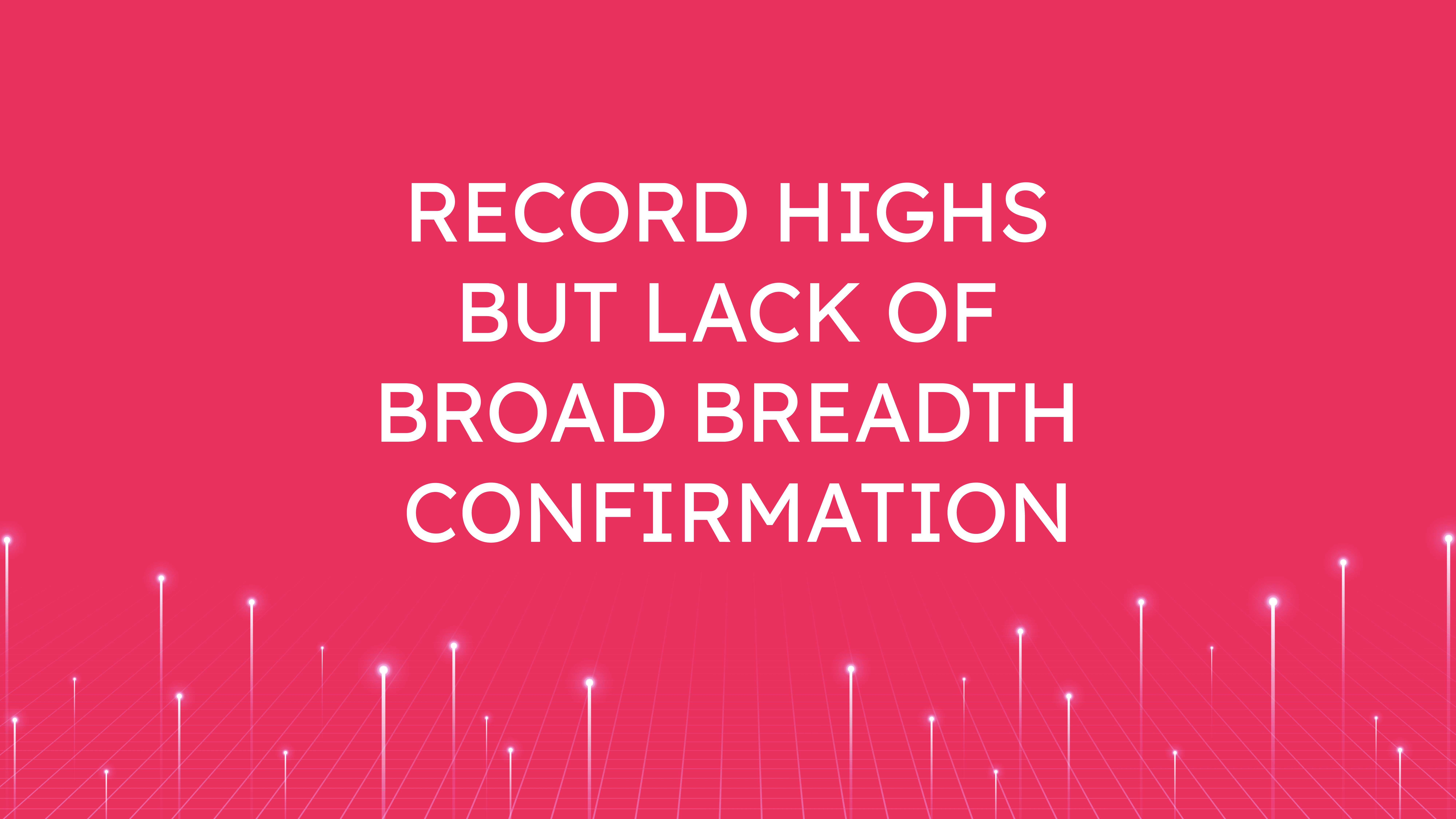Record Highs  but Lack of Broad Breadth Confirmation
