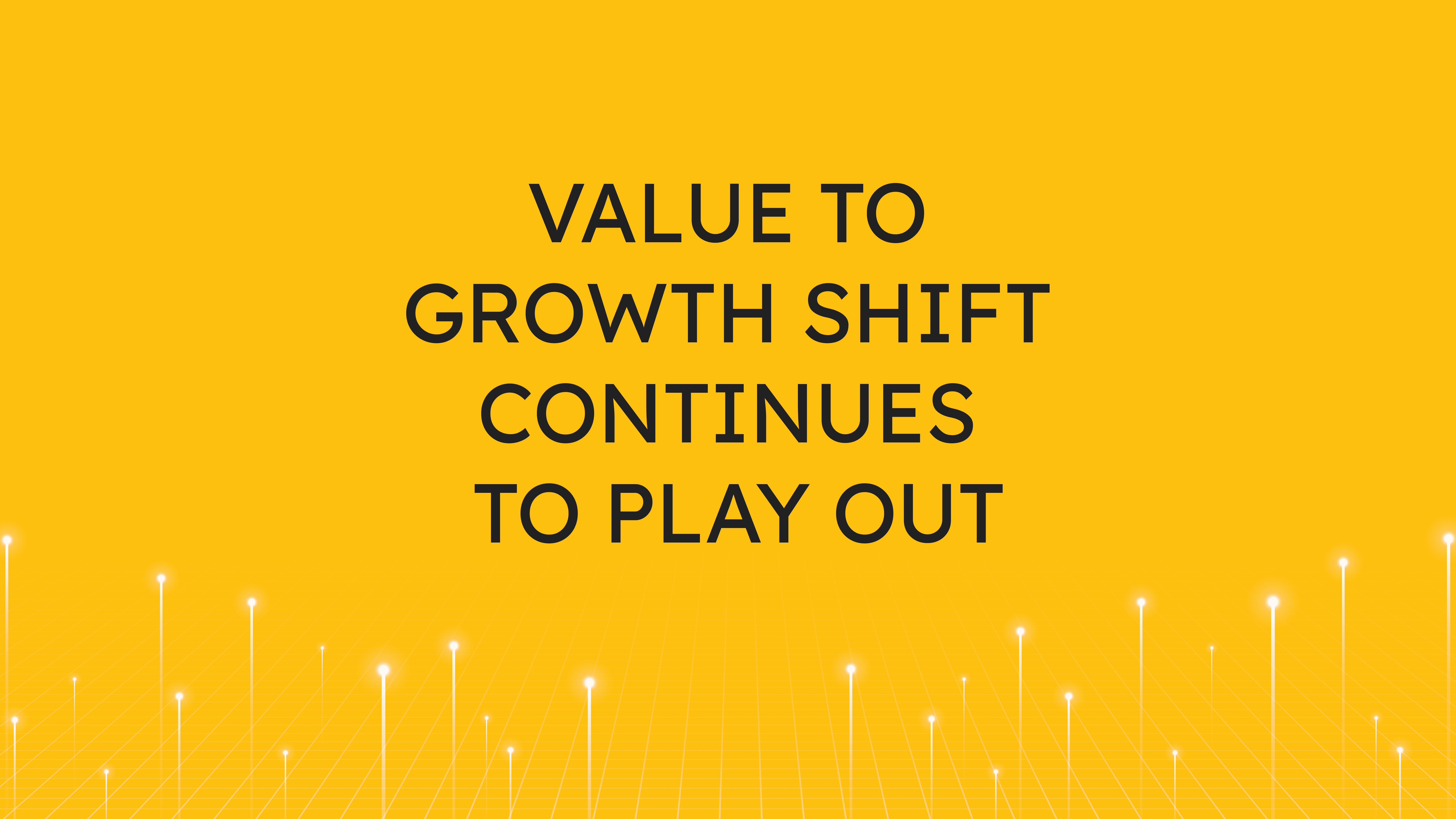 Value to Growth Shift  Continues to Play Out