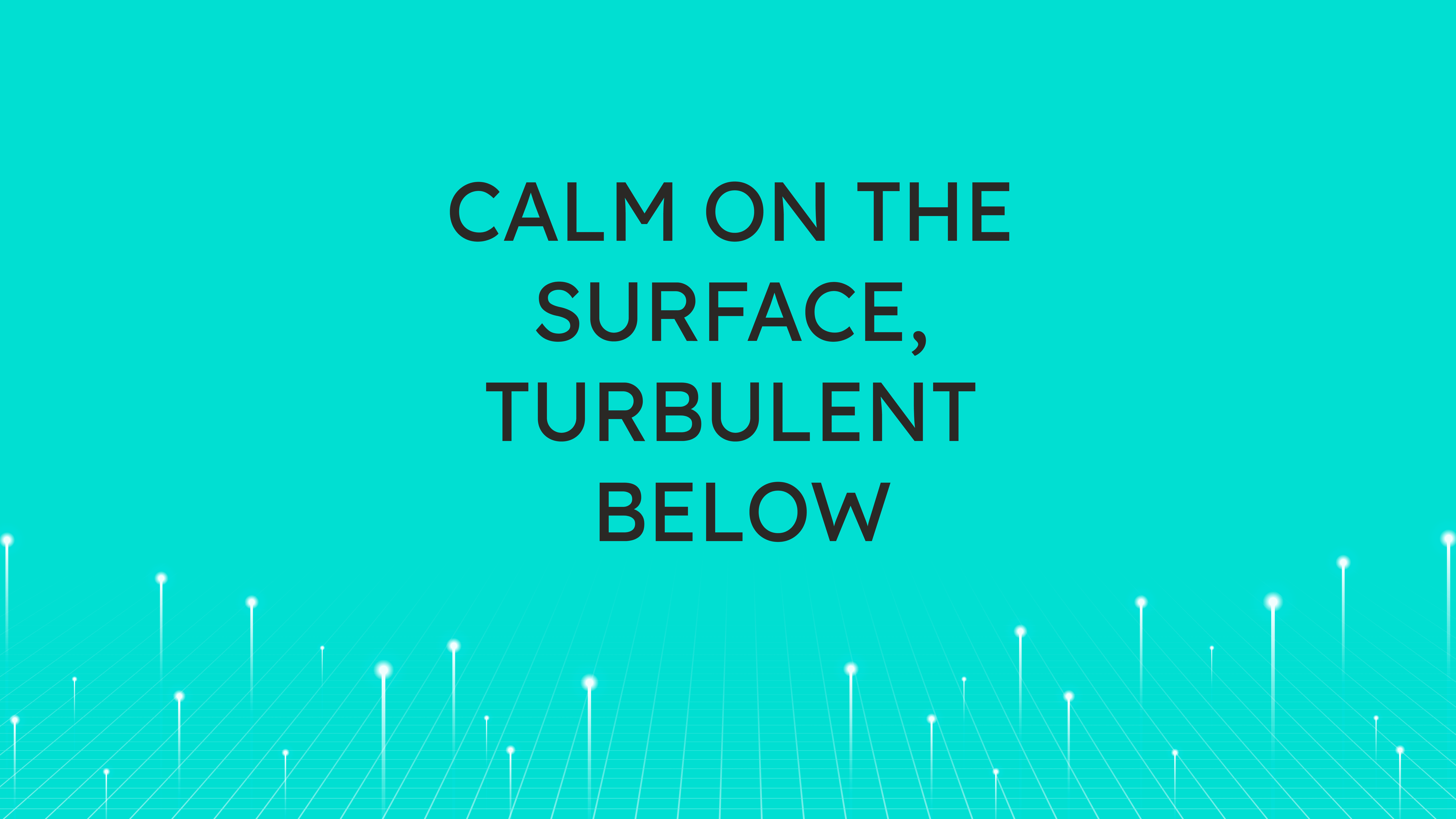 Calm on the Surface,  Turbulent Below