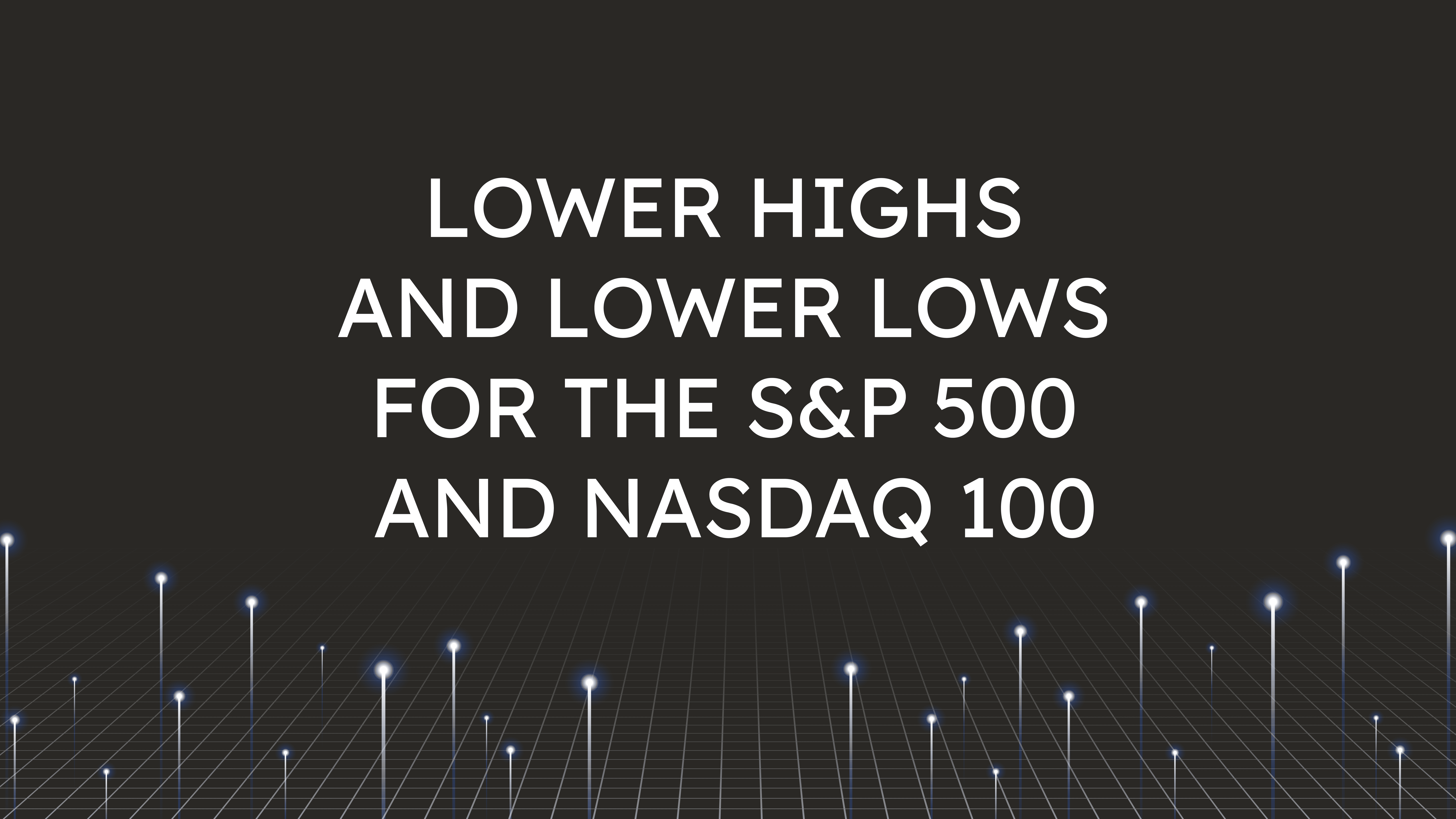 Lower Highs and Lower Lows  for the S&P 500 and NASDAQ 100